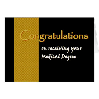 CUSTOM NAME Congratulations - Medical Degree Card