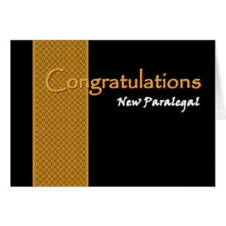 CUSTOM NAME Congratulations - Paralegal Greeting Card