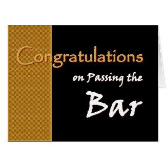 CUSTOM NAME Congratulations Passing Bar Exam A01 Card