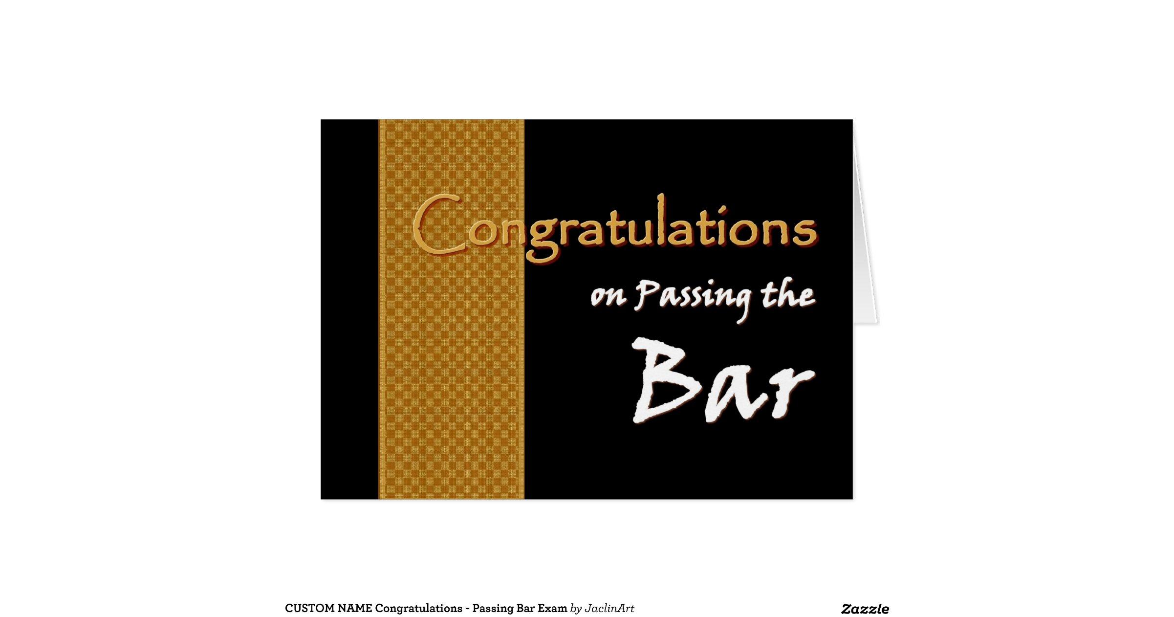 Custom Name Congratulations Passing Bar Exam Card Rd B A F B B Fc A Xvuak Byvr Jpg View Padding B C C on Horizontal Progress Bar