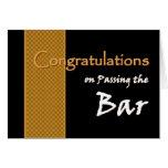 CUSTOM NAME Congratulations - Passing Bar Exam Greeting Cards