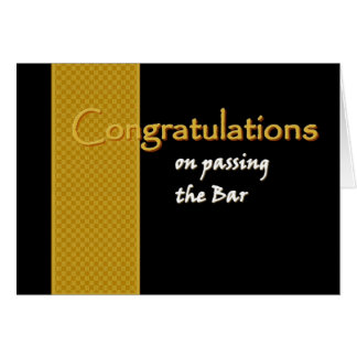 CUSTOM NAME Congratulations -Passing the Bar Greeting Card