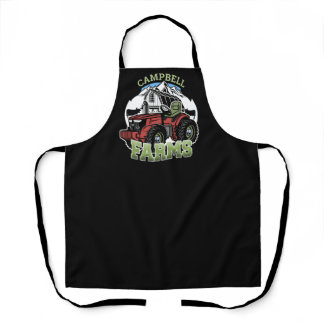Custom NAME Country Farms Barn Tractor Farmer Apron