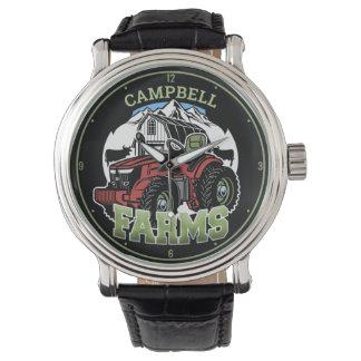 Custom NAME Country Farms Barn Tractor Farmer Watch