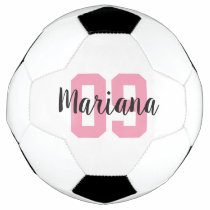 Custom Name Create Your Own Girl Pink Personalized Soccer Ball