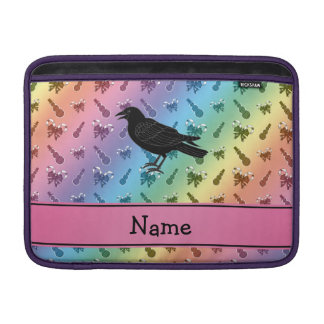 Custom name crow rainbow snowmen candycanes MacBook sleeves
