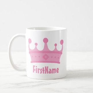 Custom Name Crown Coffee Mug