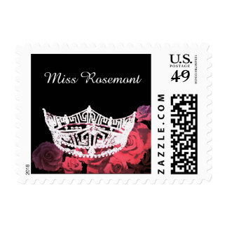 Custom Name Crown Postage Stamps