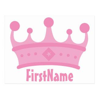 Custom Name Crown Postcard