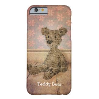 Custom Name Cute Teddy Bear Barely There iPhone 6 Case
