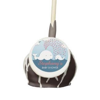 Custom Name Cute Whales Baby Shower Cake Pop Cake Pops