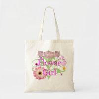 Custom Name Daisy Flower Girl Tote Bag