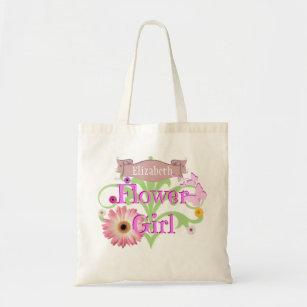 Custom Name Daisy Flower Tote Bag