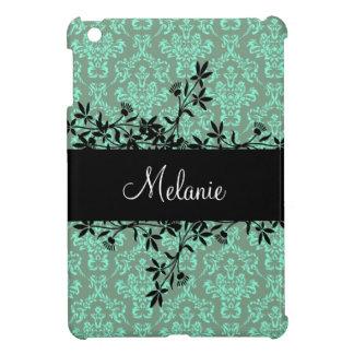 Custom Name Damask Vine Design iPad Mini Case