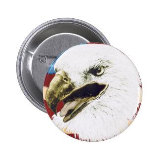 Custom Name Eagle Flag Pinback Button
