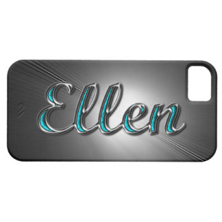"""Custom name""""Ellen"""" in Turquoise and Silver Design. iPhone 5 Cases"""