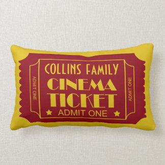 Custom Name Family Cinema Ticket Throw Pillow