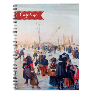 Custom Name Fine Art Christmas Gift Notebooks