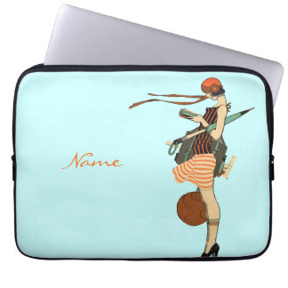 Custom Name Flapper Laptop Computer Sleeve