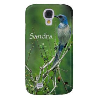 Custom Name Florida Scrub Jay Samsung Galaxy S4 Cover