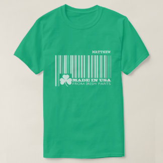 Custom Name Fun Barcode St. Patrick's Day T-Shirts