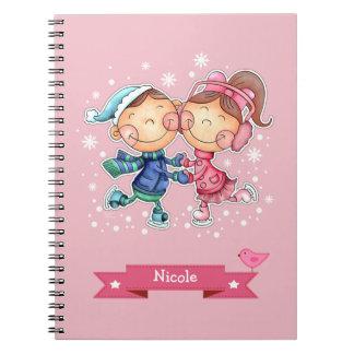 Custom Name Fun Christmas Gift Notebooks
