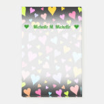 [ Thumbnail: Custom Name + Fun, Loving, Colorful Hearts Pattern Notes ]