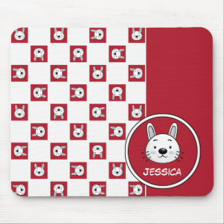 Custom Name Funny Bunny Gift Mousepads