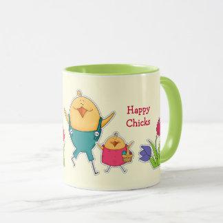 Custom Name Funny Easter Chicks Gift Mugs