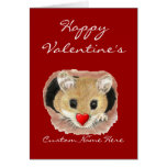 Custom Name Funny Valentine Mouse Greeting Card