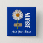 """Custom Name Gift Buttons for Nurses<br><div class=""""desc"""">Gift Buttons for Nurses with personalized name is a perfect gift for a special nurse for Nurses Day, Nurses Week, Birthday, Graduation from Nurses School or simply to give thanks . Matching cards in various languages, postage stamps and other products available in the Business Related Holidays / Nurses Day Category...</div>"""
