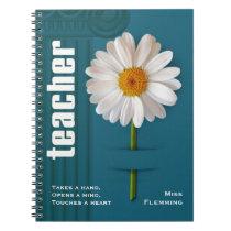 Custom Name Gift Notebooks for Teachers