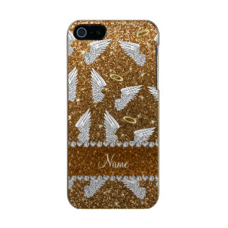 Custom name gold glitter angel wings incipio feather® shine iPhone 5 case
