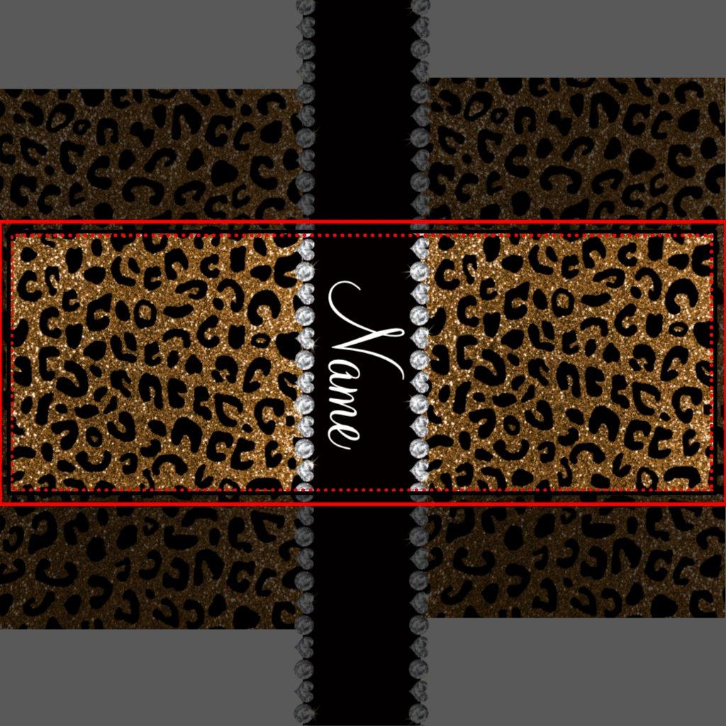 gold glitter cheetah print