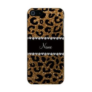 Custom name gold glitter leopard print incipio feather® shine iPhone 5 case