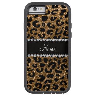 Custom name gold glitter leopard print tough xtreme iPhone 6 case