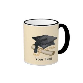 Custom Name Grad Cap Ringer Coffee Mug