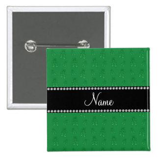 Custom name green ballet shoes pins