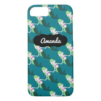 Custom Name Green Mermaid iPhone 7 Case