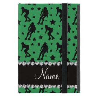 Custom name green roller derby stars cover for iPad mini
