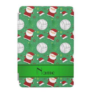 Custom name green volleyball christmas pattern iPad mini cover