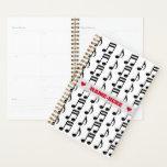 [ Thumbnail: Custom Name + Grid of Musical Notes Planner ]