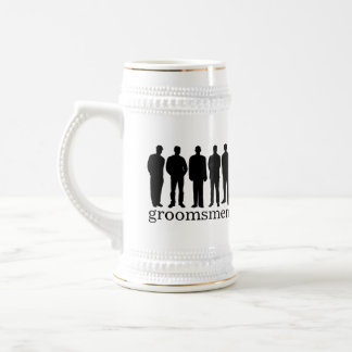Custom name groomsman bachelor beer stein mug