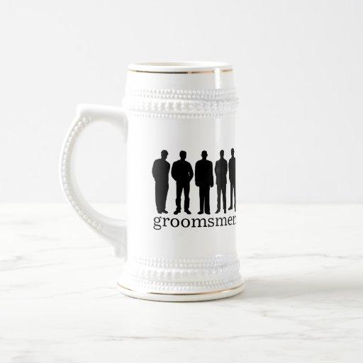 Custom name groomsman bachelor beer stein mug