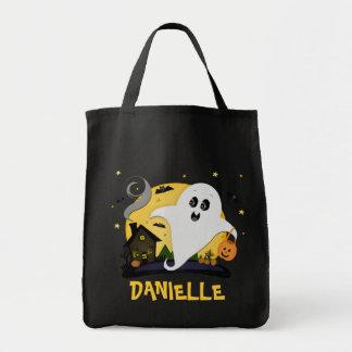 Custom Name Halloween Trick or Treat Candy Bag