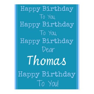Custom Name Happy Birthday Song Postcard