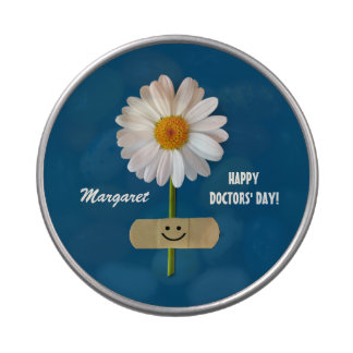 Custom Name. Happy Doctors' Day Gift Candy Jelly Belly Tin