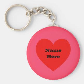 Custom Name | Heart Emoji Keychain