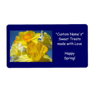 Custom Name Homemade Sweets Treats Gift Tags Label