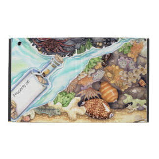 Custom Name-in-a-Bottle Tide Pool iPad Cover